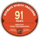 Ultimate Spirits Challenge 91 Points